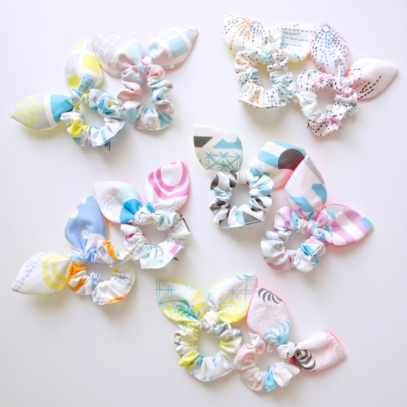 Ribbon hair scrunchy (set of 2)