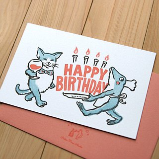 Happy birthday ---Letterpress card