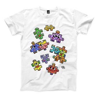 PUZZLE - White - Neutral T-Shirt
