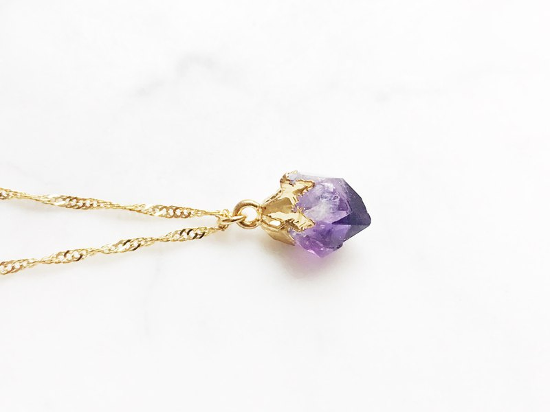 :: Gold Mine Series :: Amethyst Clavicle Necklace