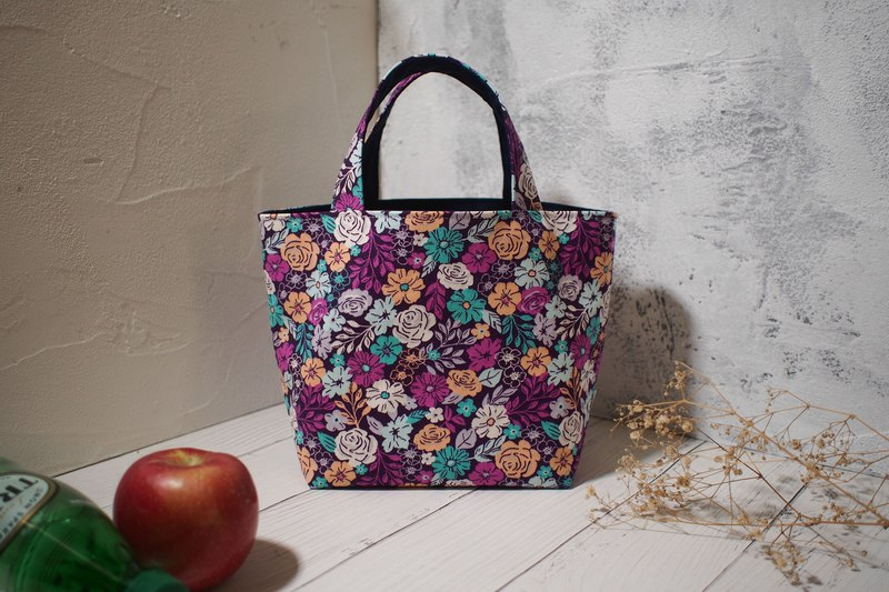 House wine series lunch bag / handbag / handmade bag / purple flower sea / out of stock items in stock