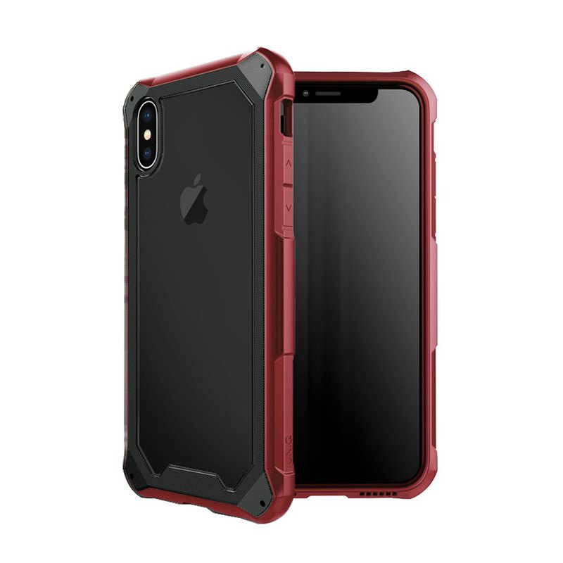 iPhoneX/Xs Xtremsis military standard certification double impact resistant shatter-resistant mobile phone case - black / red