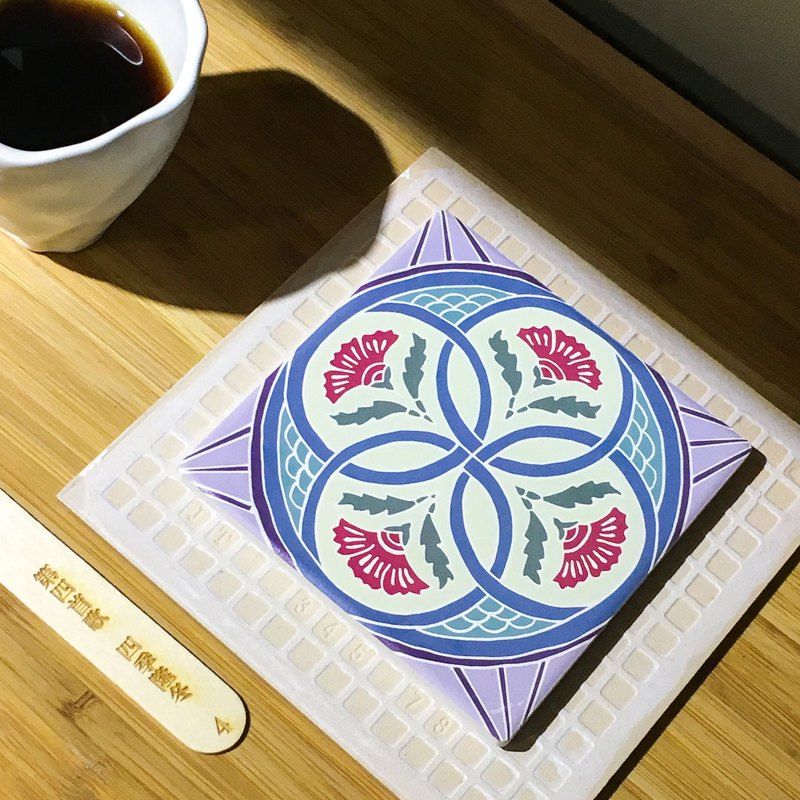 Taiwan Majolica Tiles Coaster【Winter】