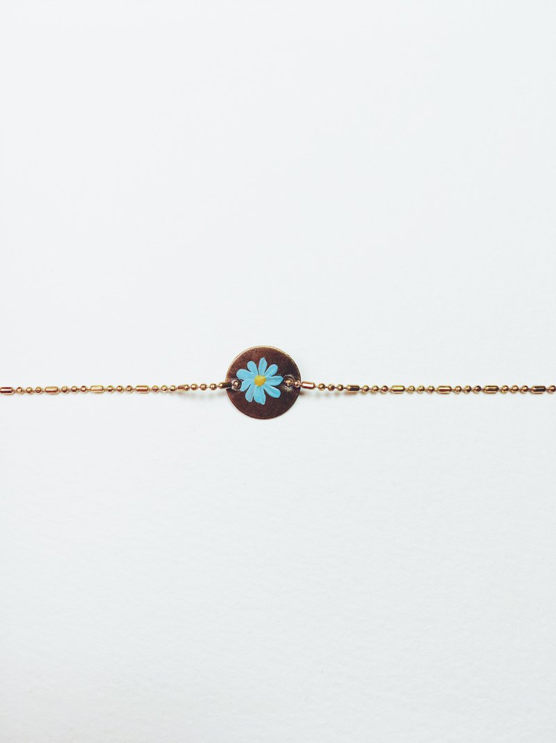 Hand painted bracelet - flower