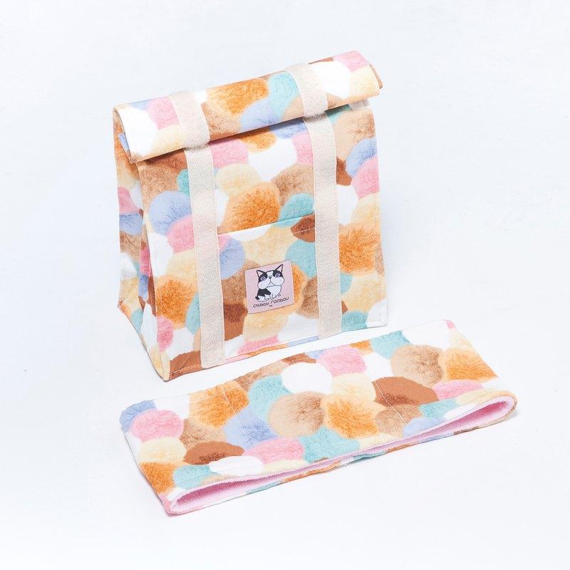 夢幻球球 主寵外出也要時髦配件組 - 保冷保溫袋 沁涼巾 - 卡其