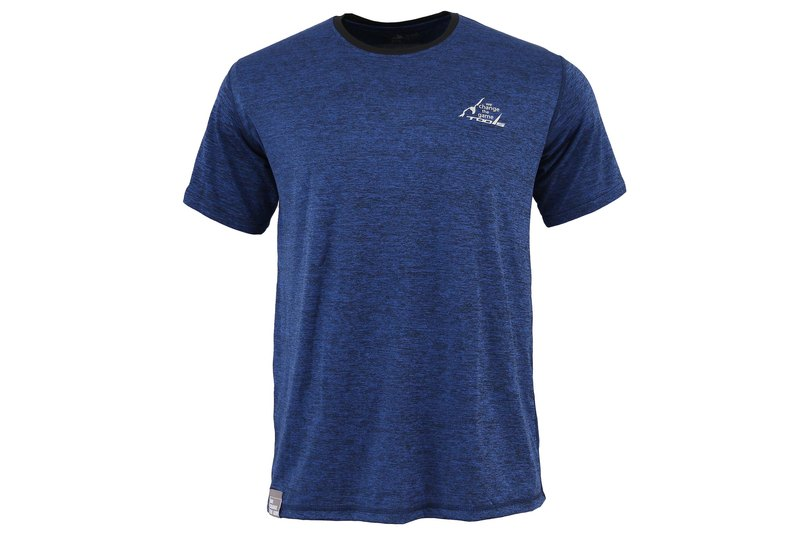 Tools NAKEDT Mixed Yarn Short Sleeve TEE :: Blue:: Comfortable:: Casual