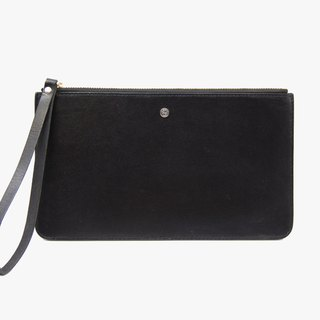 Pouch Wallet/ Clutch / Card Case / Leather / Handmade / Black