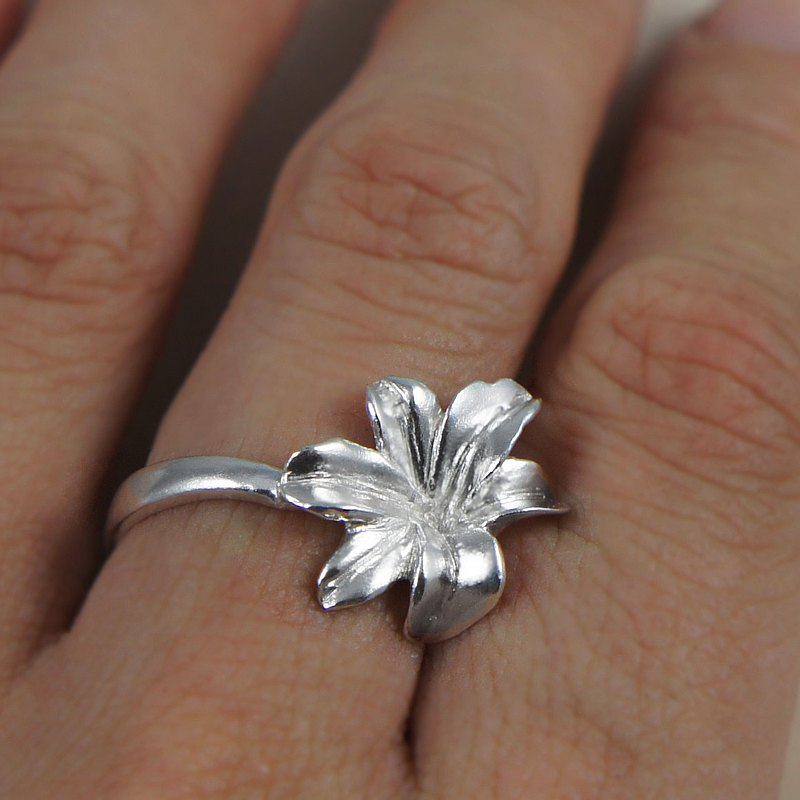 [If sub] Taiwan wild lily silver ring