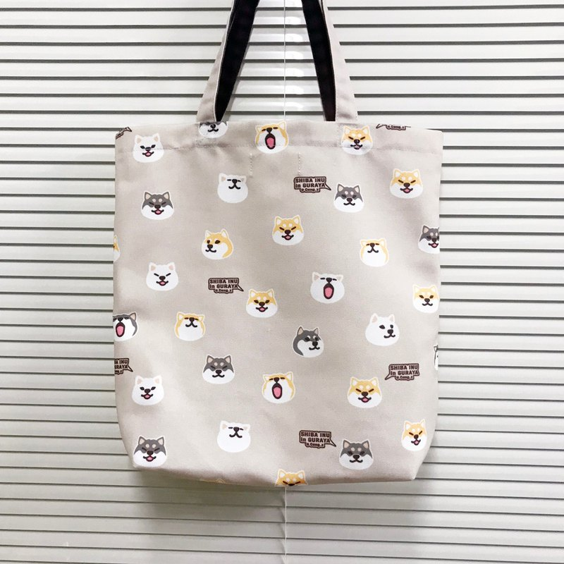 2018 warehouse new Shiba Inu polyester canvas bag waterproof