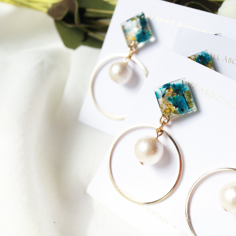 Eternal Life Flower Series - Xiaolingjiao Japanese Pearl Earrings
