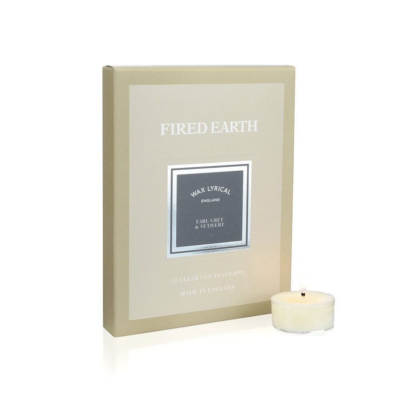 British candle FIRED EARTH series Earl Grey tea with fragrant root 12 into small candles