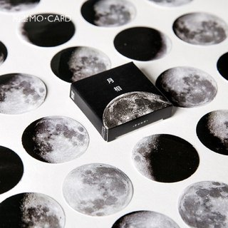 Moon phase series calendar planet hand account sticker stickers decoration 45 pieces into