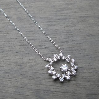 CD Bijoux Sterling Silver Light Jewelry - Snowflake Necklace