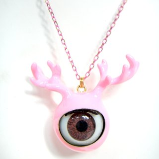 TIMBEE LO 黑色鹿角眼珠頸鍊 Antlers Eyeball  with Black Epoxy Necklace