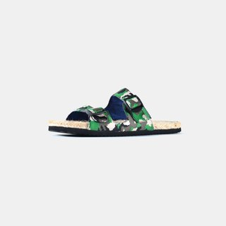 [Dogyball] easy to wear simple and easy life simple camouflage grass sandals - jungle green