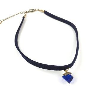 Blue crystal necklace gift