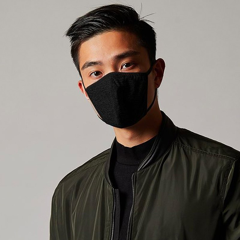 香港 MasKolor PRO   BLACK 黑色银离子抗菌口罩 可重复水洗30次