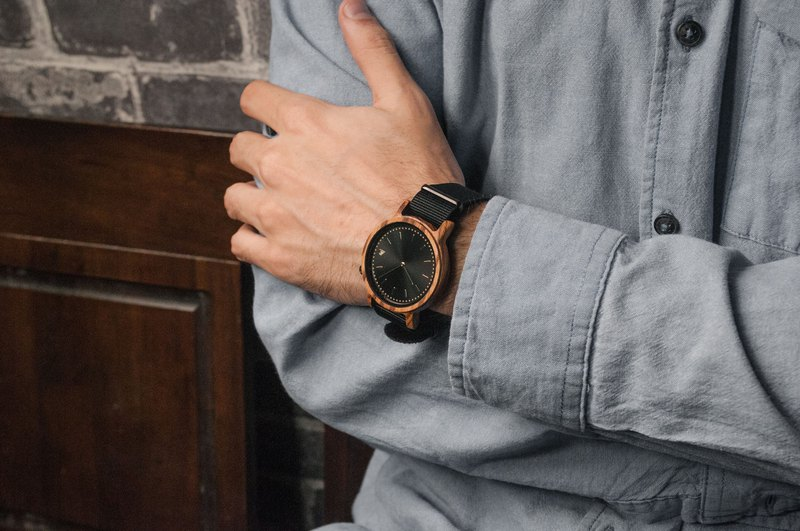 PRIME 1.2.1 Zebrawood Wooden Watch - Muted Black 42mm