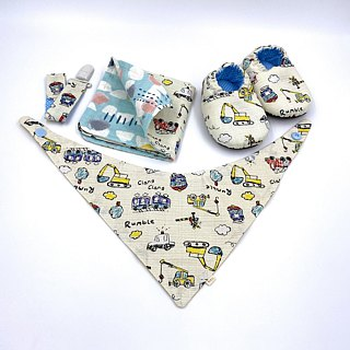 Wax car world - toddler shoes / baby shoes / baby shoes + single buckle sling clip + scarf + handkerchief