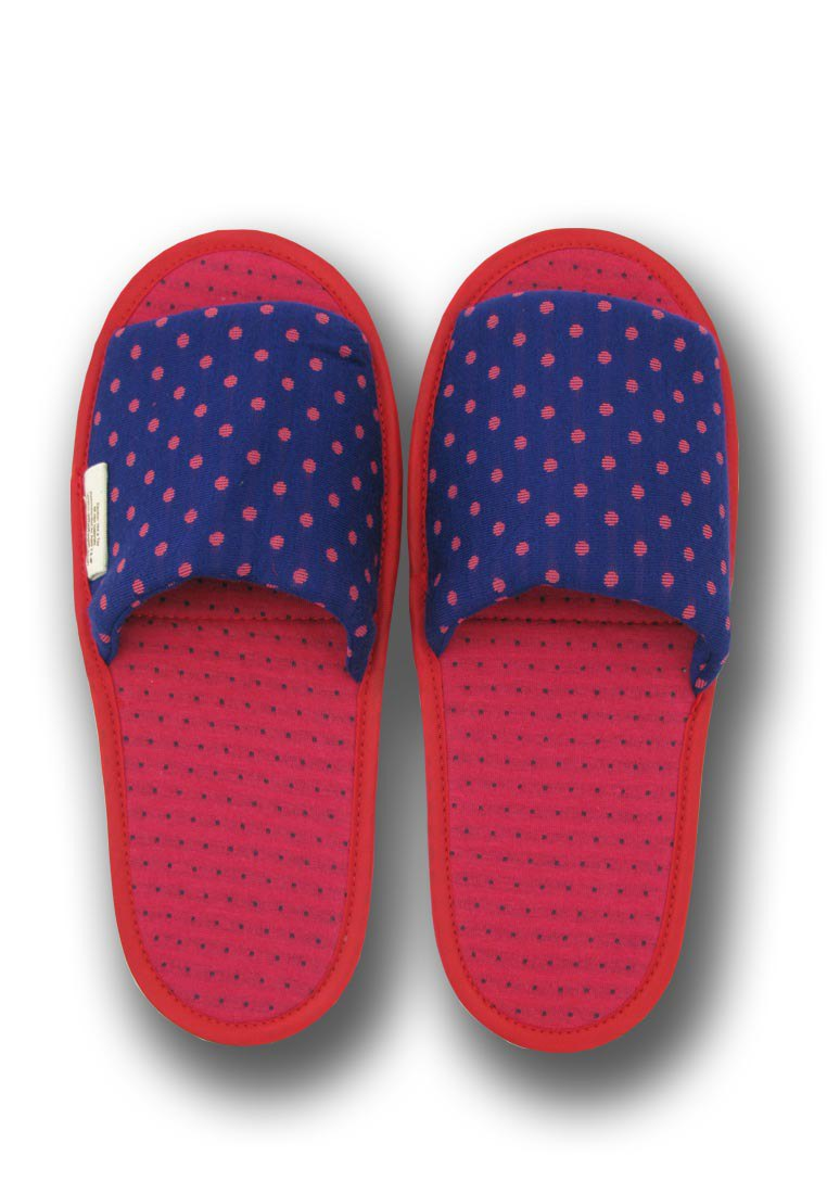 Mizutama Sleep Slippers - Navy Blue & Red
