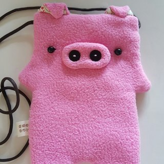 Happy bleating hand for Shop -... The pig cell phone pocket camera bag backpack travel card