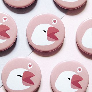 Big Heart Bird badge / badge / pin / brooches