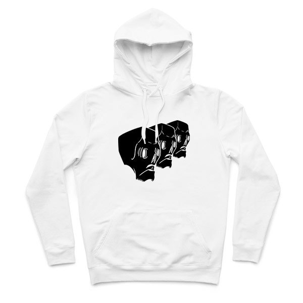 Skull gang - White - Hooded T-Shirt
