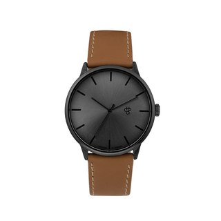 Chop Brand Swedish brand - Khorshid series black dial brown leather watch