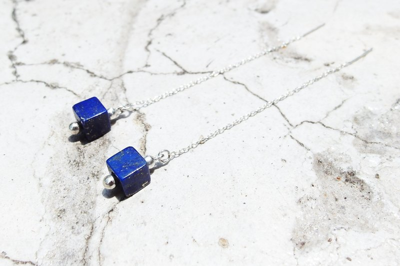 Zo.craft natural lapis lazuli earrings / 925 sterling silver