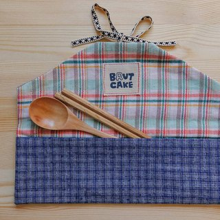 Brut Cake - Envelope Handmade Textile Ancient Cloth Reel Environmental Cutlery Set (10)