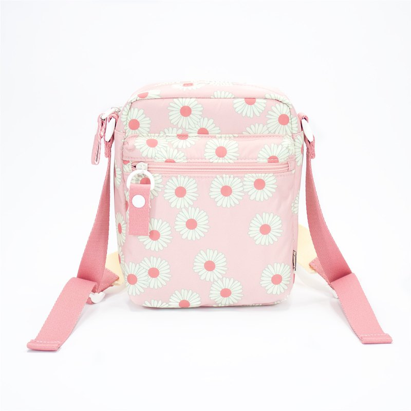 Ra Eco-friendly Super Light Waterproof Floral Mini Shoulder bag (Pink Daisy)