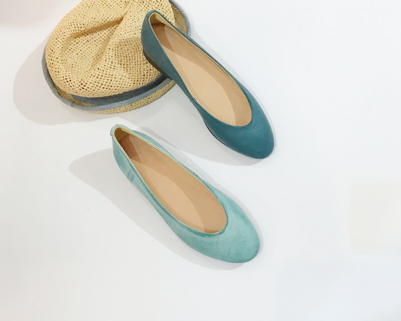 Two-tone leather doll shoes||City of the sun double-fishing sea|| #8123