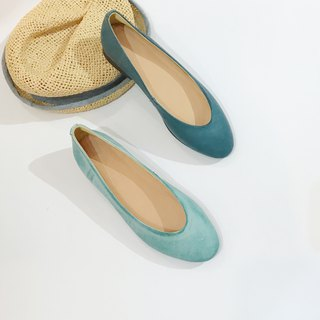 Two-tone flat shoes||City of the sun double-fishing sea|| #8123
