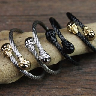 [METALIZE]FTW Skull 骷髅4MM Cable Bracelet (Four Colors)