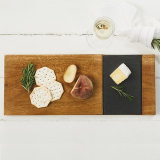British Selbrae House solid wood slate mix and match style cutting board / board / display board - spot