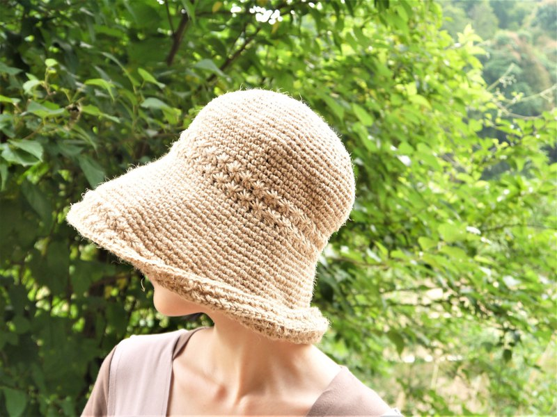 967c106faa7 Hand-made fisherman hat ~ Hemp rope roll cap (wide version) - Designer  amiju
