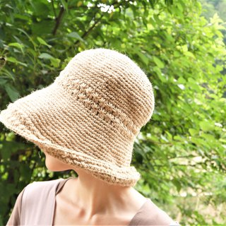Hand-made fisherman hat ~ Hemp rope roll cap (wide version)