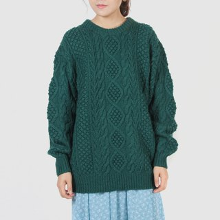[Egg plant ancient] Fendo fine three-dimensional woven flower vintage sweater