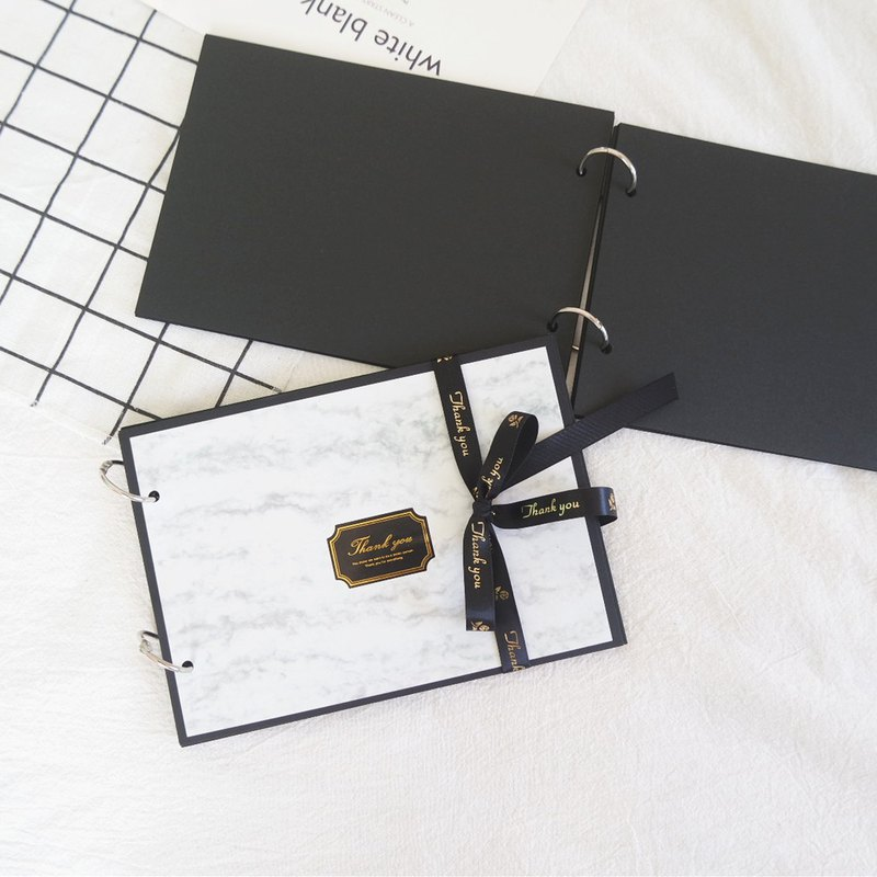 A5 texture marble handmade book black X loose-leaf reminiscence phase manual manual card