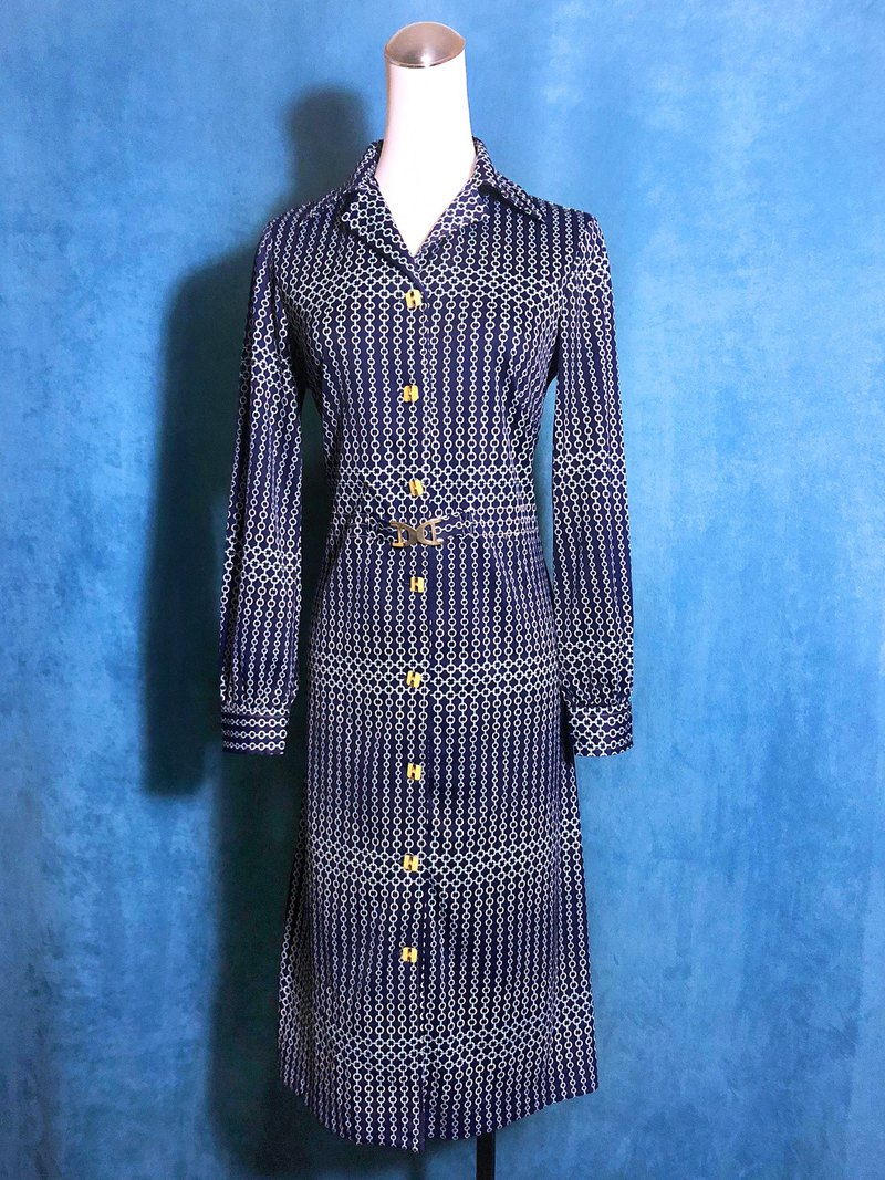 Vintage Totem Long Sleeve Vintage Dress / Foreign Return to VINTAGE