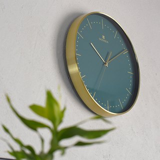 Dodeka- Collection Metal Silent Clock Wall Clock (Green)