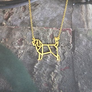 Otter hound, Origami, Dog Necklace, Pet Jewelry, Dog memorail, Dog gifts