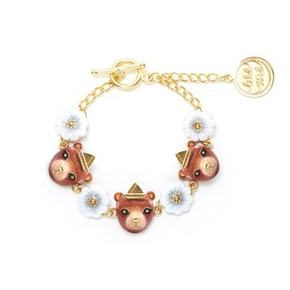 Grizzly honey bear bracelet