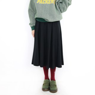 Back to Green:: 素黑 圓裙  vintage skirt ( SK-40 )