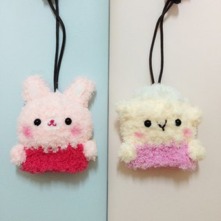 Wool knit animal small key bag _1 + 1 combination offer (can be combined with animal combination)
