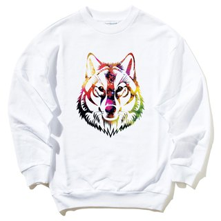 COSMIC WOLF University T neutral bristles white wolf universe design own brand Milky Way trendy round triangle