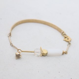 Valentine's Day gift <☞ HAND IN HAND ☜> Moonstone - Rule Bracelet (0964)