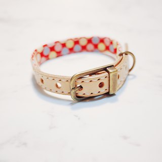 Dog & Cats collars, S size, Pink and cute dots Japan fabric