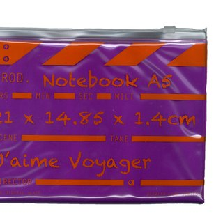Director clap Journal jotter A5 Notebook - Purple
