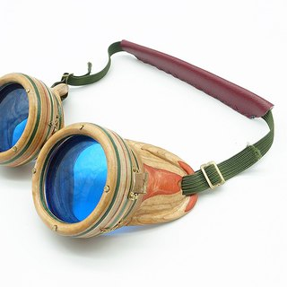 Handmade Recycled Skateboard Goggles 002